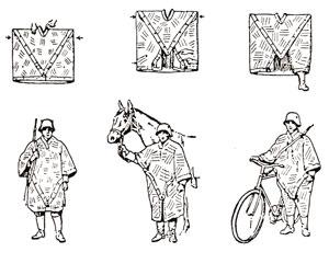 Swiss Camo Rain Poncho - Pack of Four - Military Rain